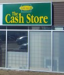 Store front for The Cash Store
