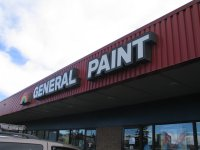 Store front for General Paint