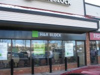 Store front for H & R Block
