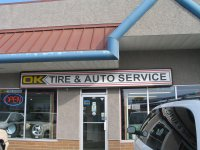 Store front for OK Tire & Auto Service