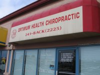 Store front for Optimum Health Chiropractic