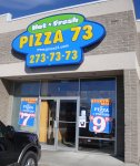 Store front for Pizza 73