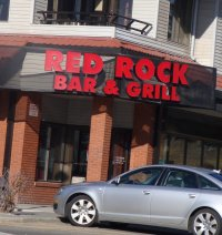Store front for Red Rock Bar & Grill