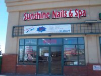 Store front for Sunshine Nails & Spa