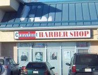 Store front for Crowfoot Barber & Styling Shop