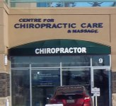 Store front for Centre for Chiropractic Care & Massage