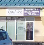 Store front for Crowwest Chiropractic & Massage