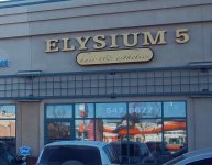 Store front for Elysium 5 Hair & Esthetics