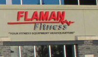 Store front for Flaman Fitness