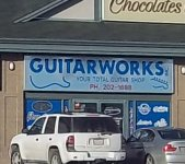 Store front for Guitar Works
