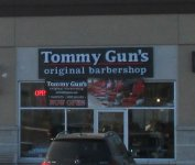 Store front for Tommy Gun's