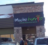 Store front for Mucho Burrito