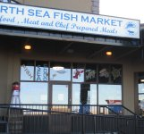 Store front for North Sea Fish Market