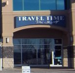 Store front for Travel Time Inc.